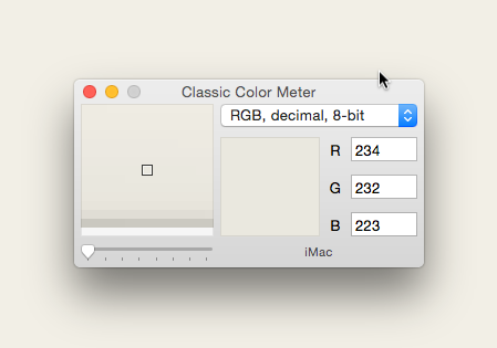 Colour display options